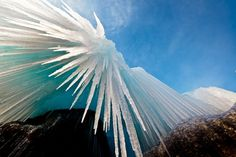 Amazing natural ice formations