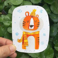 #character #characterdesign #tiger #picturebook #childrenbook #painting #watercolor #watercolorpainting #watercolour #cartoon