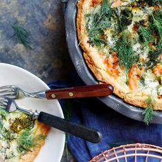 Kylmäsavulohipiirakka | Maku Salmon Pie, Smoked Salmon, Vegetable Pizza, Vegetables, Food, Christmas, Kite, Xmas, Essen