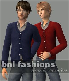 Mod The Sims - Simple Sweaters