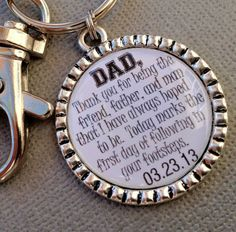 FATHER of the GROOM gift PERSONALIZED keychain  by buttonit, $14.00