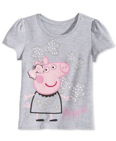 Nickelodeon's Peppa Pig Little Girls' Graphic-Print T-Shirt Peppa Pig Clothes, Peppa Pig Outfit, Pegga Pig, Luxury Horse Barns, Dumbo Cake, Ian Harding, Theme Bedrooms, Graphic Prints, Screen Printing