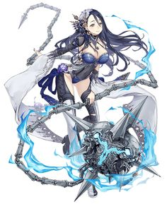 View an image titled 'Princess Kaguya, Crusher Job Art' in our SINoALICE art gallery featuring official character designs, concept art, and promo pictures. Fantasy Character Design, Character Design Inspiration, Character Concept, Character Art, Fantasy Anime, Fantasy Girl, Kawaii Anime Girl, Anime Art Girl, Fantasy Characters