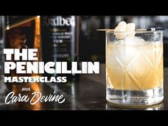 How to make The Penicillin cocktail - Masterclass - YouTube Penicillin Cocktail, Spirit Drink, Refreshing Cocktails, Master Class, Whisky, Martini, Glass Of Milk, The Cure, Drinks