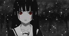gif anime Jigoku Shoujo pokol lány Enma ai