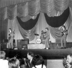 The Beatles performing at the Deco in  Northampton in 1963