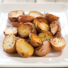 For a crisp, dense, velvety roast potato, take low-starch potatoes, cover for part of the cooking time, and flip them once.