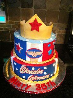 Wonderful Wonder Woman Cakes Wonder Woman Cake Wonder Woman And - 35th birthday cake ideas