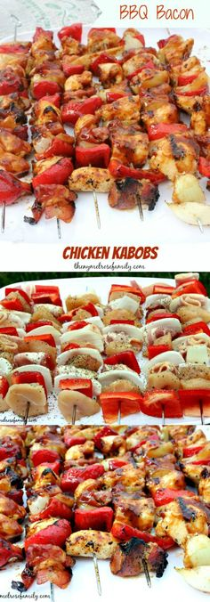 BBQ Bacon Chicken Kabobs will have your mouth watering and the crowd coming back for more!