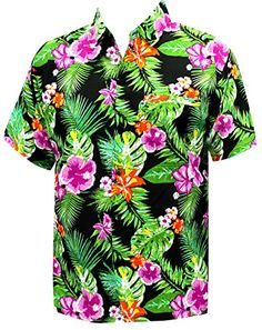 231ef9106 LA LEELA Men's Aloha Hawaiian Shirt Short Sleeve Button Down Casual Beach  Party at Amazon Men's Clothing store: