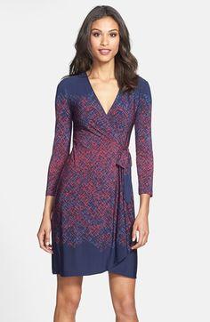 BCBG MAXAZRIA BCBGMAXAZRIA Engineered Print Matte Jersey Wrap Dress available at #Nordstrom