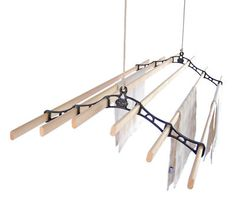 6 LATH Kitchen Maid® Pulley Clothes Airer Laundry Dryer...NEED THIS!!