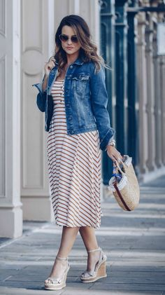 stripes and denim jackets, the perfect spring combo!