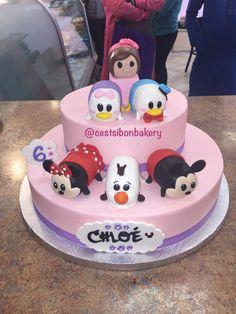 Tsum tsum Disney birthday cake! Minnie Mickey Olaf Donald daisy Disney Birthday, Birthday Cake, San Jose California, Disney Tsum Tsum, Olaf, Eat Cake, Cake Decorating, Daisy, Bakery