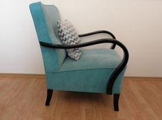Restored turquiose art deco armchair par OFCURTAINS sur Etsy, €330,00