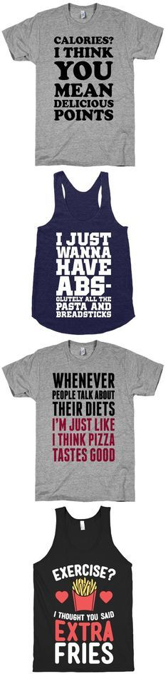 Food usually sounds way better than working out.  Check out these funny foodie designs. (scheduled via http://www.tailwindapp.com?utm_source=pinterest&utm_medium=twpin&utm_content=post14723924&utm_campaign=scheduler_attribution)