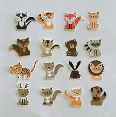 A menagerie using Stampin'up's Foxy Friends stamp set and punch.  Seriously, SOOOOOO ADORBS!!!