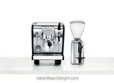Nuova Simonelli Musica Black Pour Over Espresso Coffe Machine & Grinta Chrome Doserless Grinder - http://teacoffeestore.com/nuova-simonelli-musica-black-pour-over-espresso-coffe-machine-grinta-chrome-doserless-grinder/