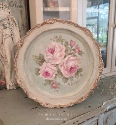 Romantic Roses Vintage Tray by Debi Coules