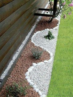 71 Beautiful Gravel Garden Design Ideas For Side Yard And Backyard Small Backyard Landscaping, Landscaping With Rocks, Landscaping Tips, Backyard Ideas, Stone Backyard, Backyard Playground, Patio Ideas, Cool Landscapes, Amazing Gardens