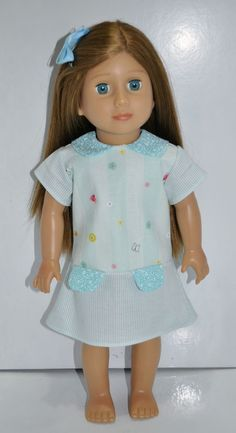 American Girl Doll Our Generation Journey Girl 18  Doll Clothes Blue Sun Dress