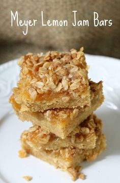 Meyer lemon jam bars