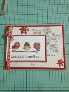 Christmas Cards Lawn Fawn Winter Sparrows