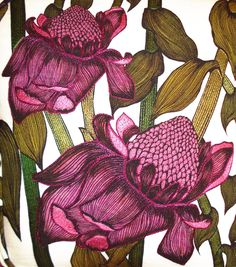 Illustrative floral design for Interiors by Victoria Smethers - a recent graduate from Loughborough University's Textile Design degree course.