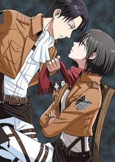 Shingeki no Kyojin, Attack on Titan, Levi, Mikasa