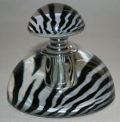 ZEBRA PRINT PERFUME BOTTLE, SOPHIA GLASS DECORATIVE COLLECTABLE BOTTLE | eBay