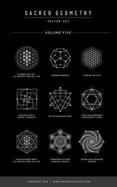 Geometry Vector Illustrations - Vol. 5 Naming Guide - Monika - Sacred Geometry Vector Illustrations – Vol. 5 Naming Guide – -Sacred Geometry Vector Illustrations - Vol. 5 Naming Guide - Monika - Sacred Geometry Vector Illustrations – Vol. 5 Naming Gui. Sacred Geometry Symbols, Sacred Geometry Tattoo, Fractal Geometry, Symbole Tattoo, Ancient Alphabets, Ancient Symbols, Native American Symbols, Geometric Shapes, Geometric Symbols