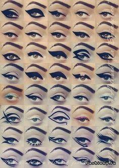 Dozens of eyeliner ideas and tutorials.