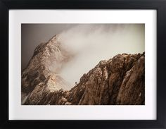 Man and a Mountain Wall Art Prints by Uros Zagozen | Minted