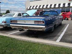 1968 Plymouth Sport Fury convertible seen at the Steak N Shake car and motorcycle show in Crawfordsville, Indiana on Labor Day, Crawfordsville Indiana, Cool Sports Cars, Plymouth, Cars And Motorcycles, Shake, Convertible, Smoothie, Infinity Dress