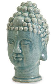 Taibei Ceramic Buddha Head - Table Accents - Home Accents - Home Decor | HomeDecorators.com