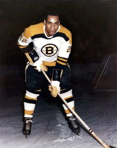 Willie O'Ree--1958 1st African American hockey player in the NHL--Boston Bruins