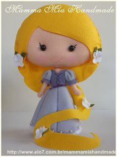 Rapunzel PDF ||| felt, fabric, doll, plush, Disney, Tangled, princess