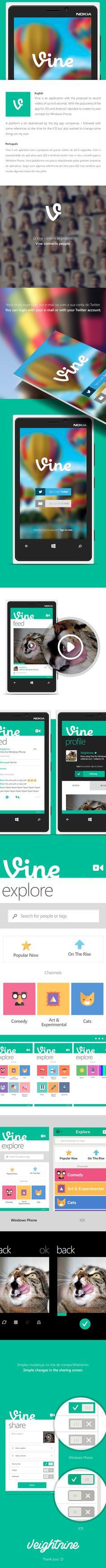 Vine Windows Phone by Victor Berbel, via Behance