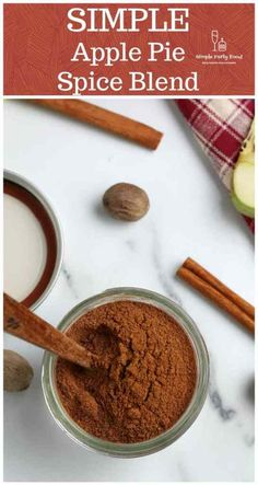 Why add another spice to that rack when you have all you need to make your own apple spice blend?  #applepiespice #applepie #simplepartyfood Pie Spice Recipe, Apple Pie Spice, Spiced Apples, Baked Apples, Unique Recipes, Great Recipes, Dessert Recipes, Drink Recipes, Desserts