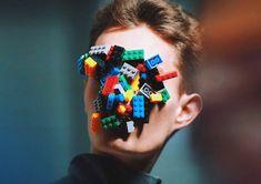 handmade LEGO masks by isamaya ffrench for agi & sam AW15