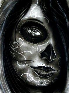 Dis de los muertos arte