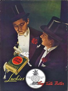 Radio Stars Magazine - Lucky Strike Cigarette ad