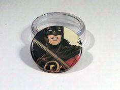 "Comic Book 1.5"" Button// Red Robin, $1.00"