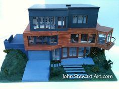 Twilight Cullen\u0027s house scale miniature by johnstewartart on ... Cullen House Twilight Dream & 60 best Cullen House images on Pinterest in 2018   Twilight Saga ...