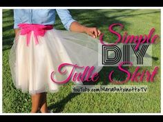 Simple DIY Tulle Skirt | MariaAntoinetteTV - YouTube