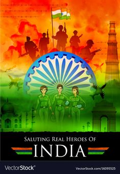 Indian tricolor background saluting real heroes of India showing armed force and… - Independence Day Republic Day Images Pictures, India Republic Day Images, Republic Day Photos, Republic Day Indian, Independence Day Drawing, Happy Independence Day Images, Independence Day Poster, India Independence, Indian Flag Wallpaper