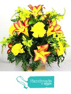 Beautiful XL Fall Lilies and Carnations for 3 inch Standard Marker Vase from…