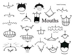 animal cartoons mix and match mouths