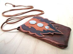 Hand Made Leather Medicine Bag Earthtoned Natural by visionroot, $60.00