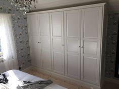 Ikea Pax Wardrobes Cleverly Built In With Top Shelves